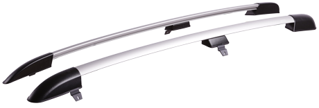 Chevrolet Niva 2009-2019 рейлинги АПС Серые матовые. Артикул 0211-Л-11